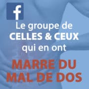 Marre du Mal de Dos - Groupe Facebook
